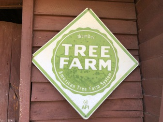Vintage Tree Farm Sign at FM