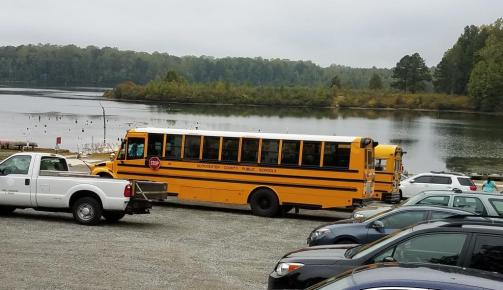 GLO school buses at Beaverdam